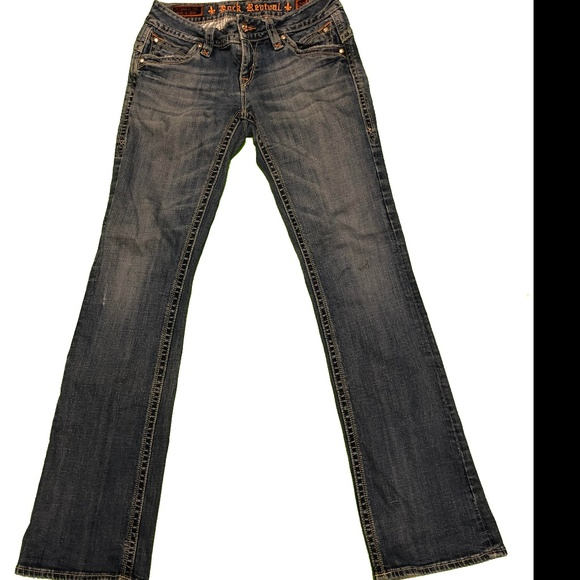 Rock Revival Denim - Rock Revival sz 29 Gwen Boot Cut Jeans Flat Front